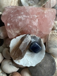 Rose Quartz, Smokey Quartz, Iolite
